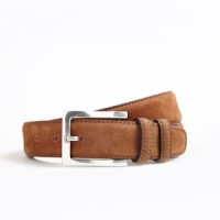 hickey freeman natural grain cedar nubuck belt