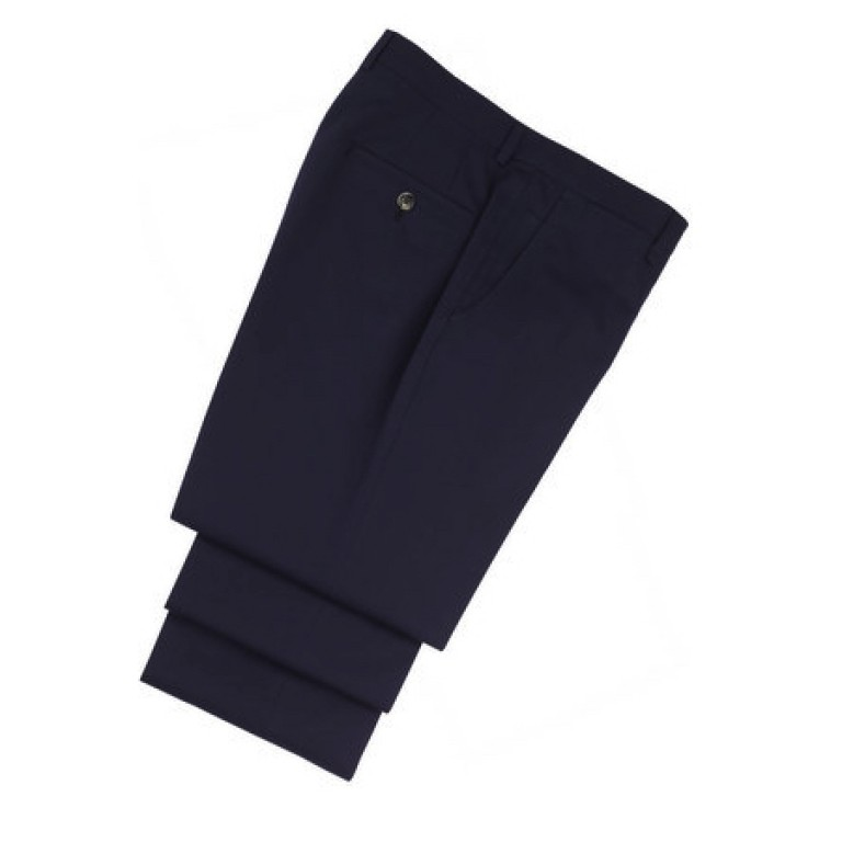 hickey freeman navy silk/cotton silk dream pants