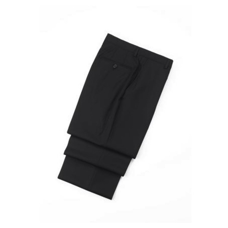 hickey freeman black wool trousers