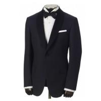 hickey freeman navy jacquard dinner jacket