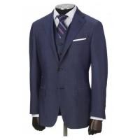 hickey freeman blue wool suit