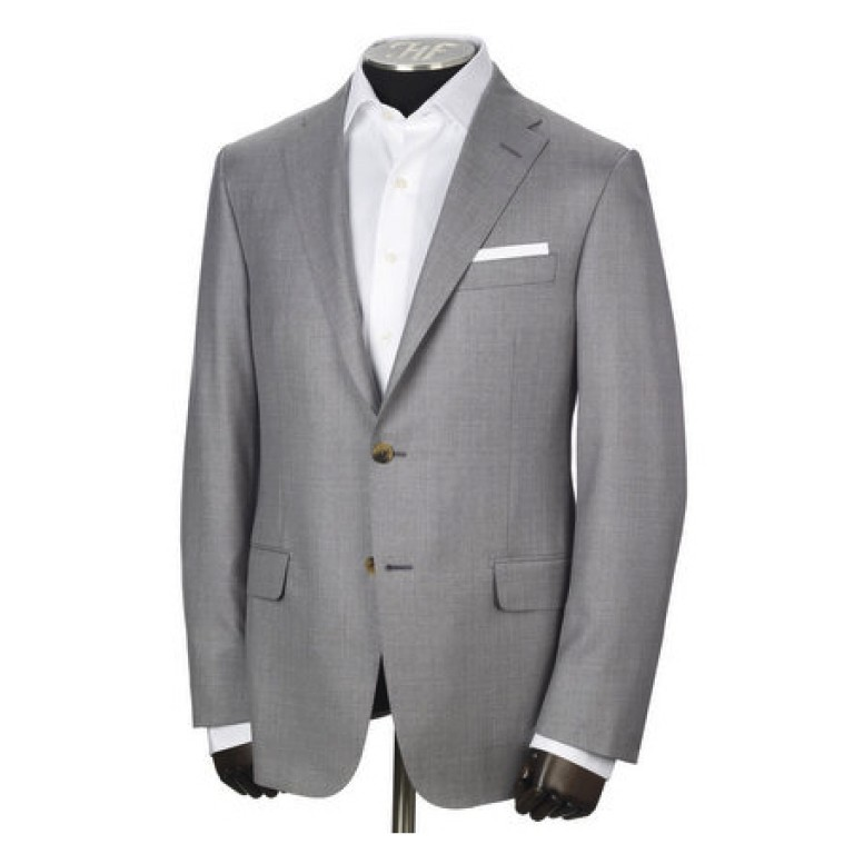 hickey freeman dove grey summer suit