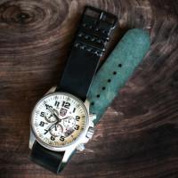 cordovan simple nato watch strap_black