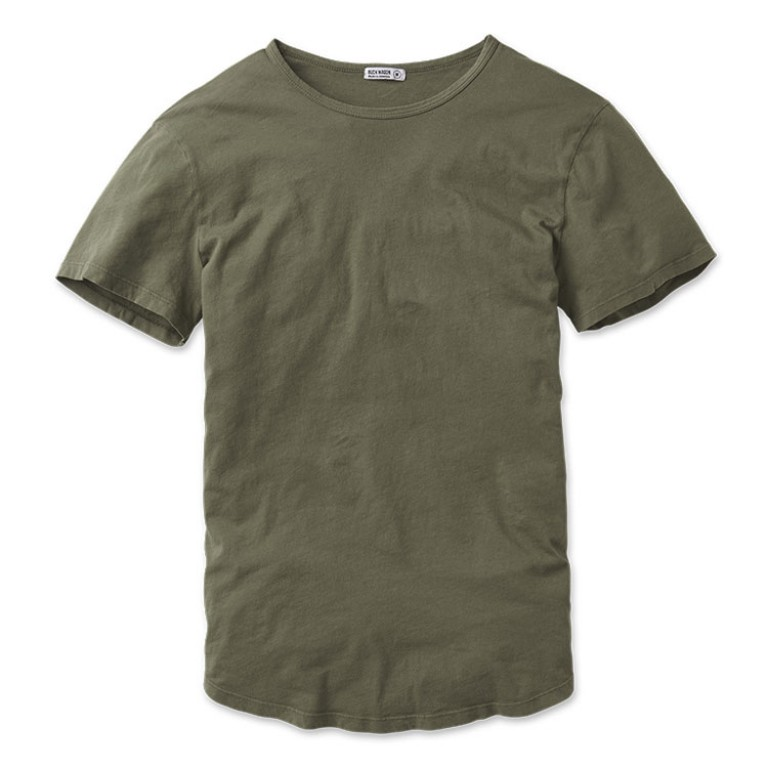 buck mason pima cotton army crew neck t shirt