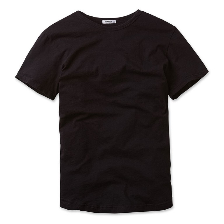 buck mason black crew neck slub t shirt