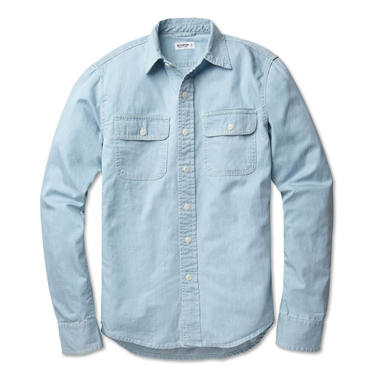 buck mason chambray work shirt
