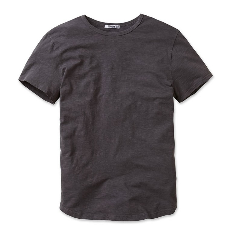 buck mason charcoal crew neck pima cotton t shirt