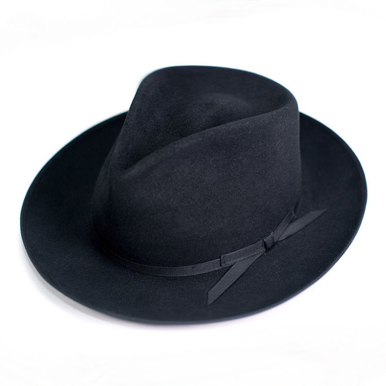buck mason and stetson fedora hat black