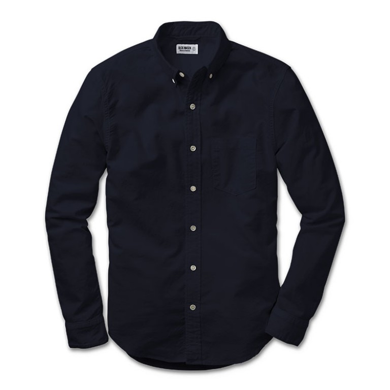 buck mason navy oxford