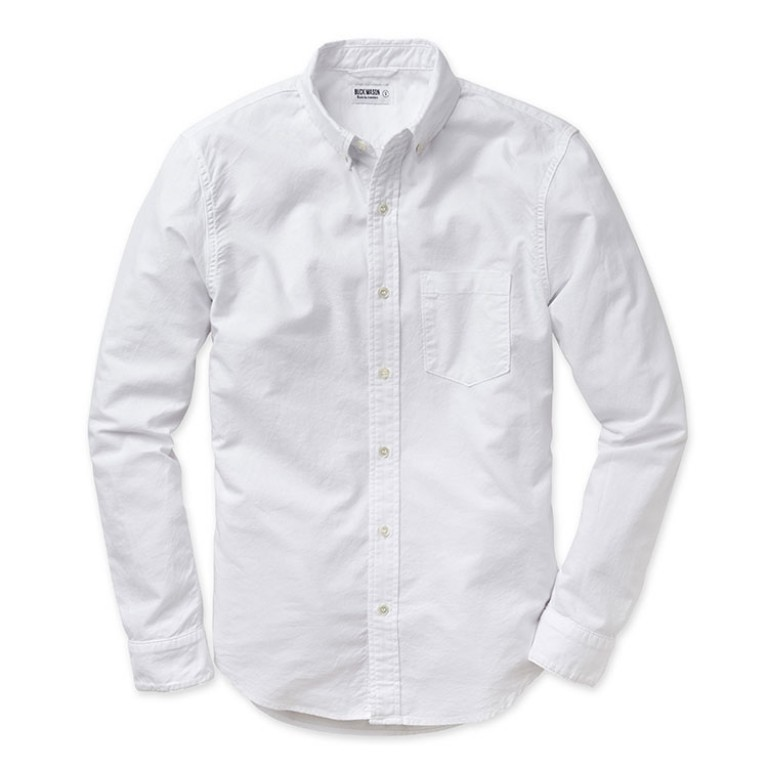 buck mason white oxford