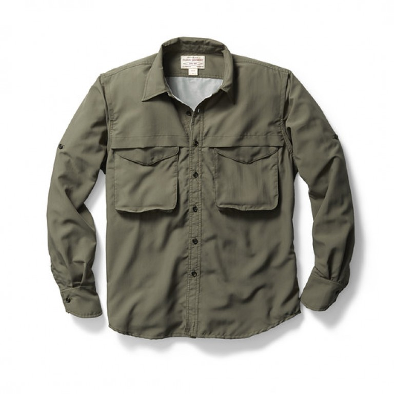 filson grey angler shirt