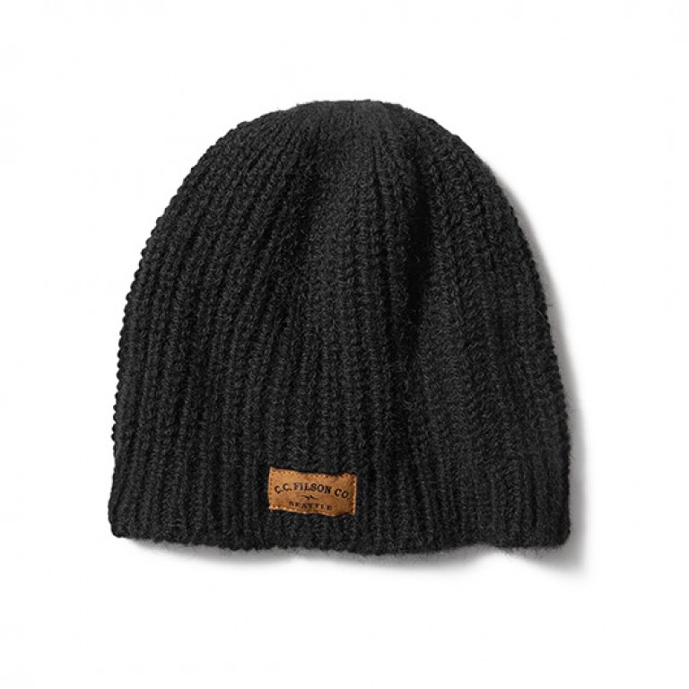 filson black bison knit hat