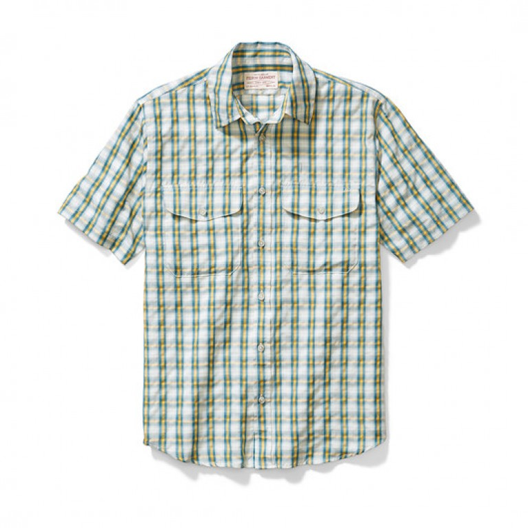 filson blue and yellow Rainer shirt