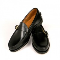rancourt and company black calfskin buckle loafer