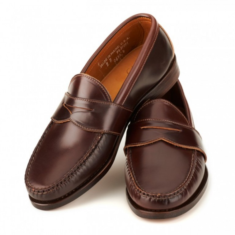 rancourt and company shell cordovan welting penny loafer