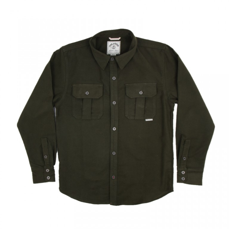 Iron and Resin - Casual Button-Down Shirts - INR Hawkins Shirt Moss