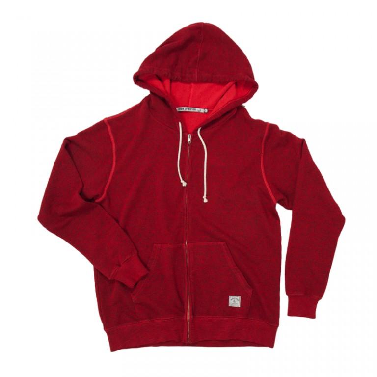 Iron and Resin - Sweatshirts - INR Soledad Zip Hoodie Red