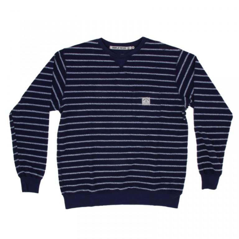 Iron and Resin - Sweatshirts - Loop Out Crew Pocket Fleece Ink