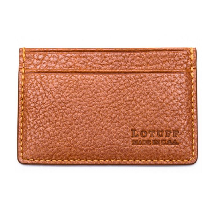 Lotuff - Bags and Wallets -Leather Credit Card Wallet Tan