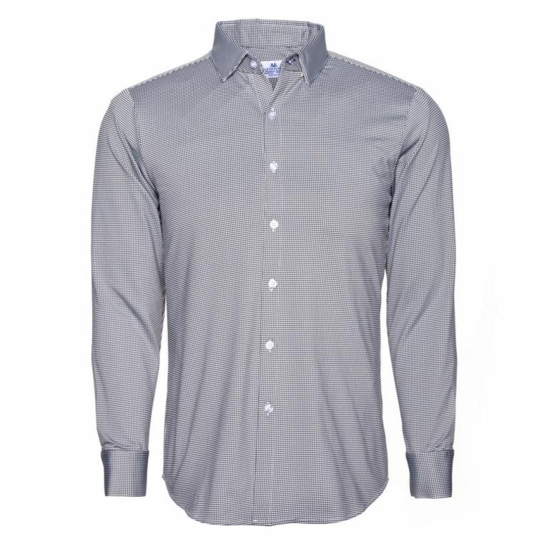 Mizzen+Main - Dress Shirts - Davenport Black Gingham Dress Shirt