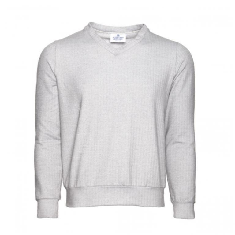 Mizzen+Main - Sweaters - Fairbanks Grey Herringbone Sweater
