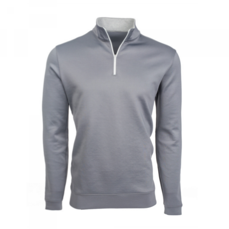 Mizzen+Main - Sweaters - Sequoia Gray Quarter Zip