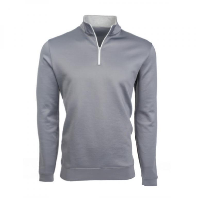 Mizzen+Main - Sweaters - Sequoia Gray Quarter Zip