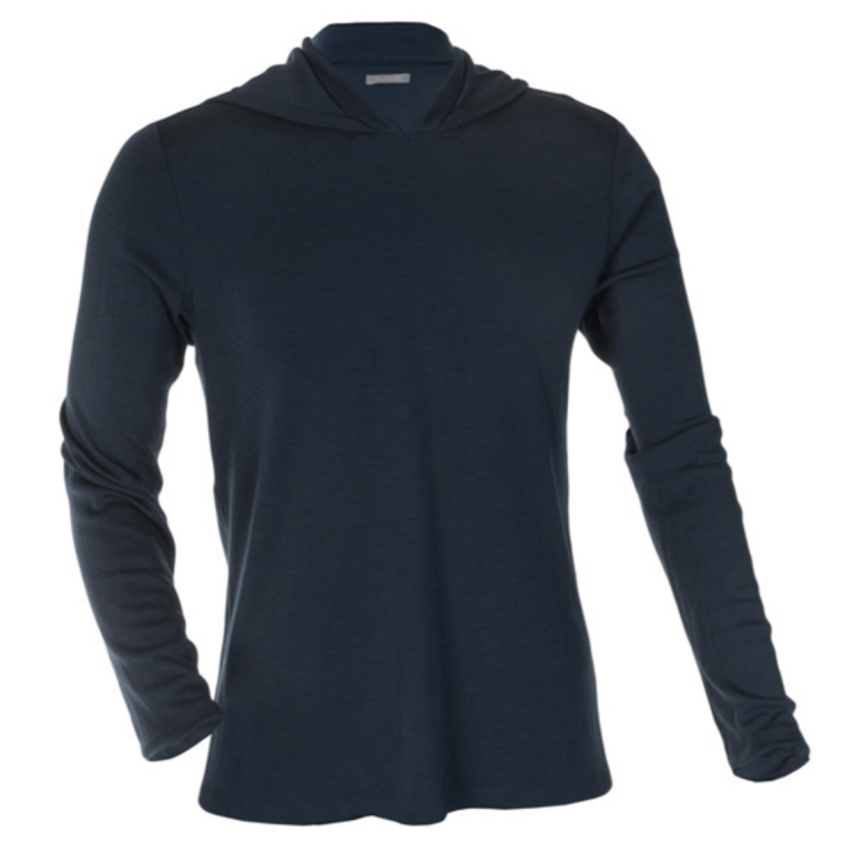 OLIVERS - Athletic - Merino Hooded Pullover Navy
