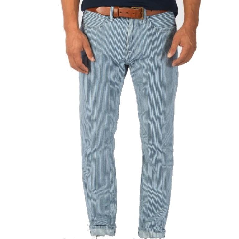 Save Khaki United - Jeans - Indigo Strip Surplus Jean