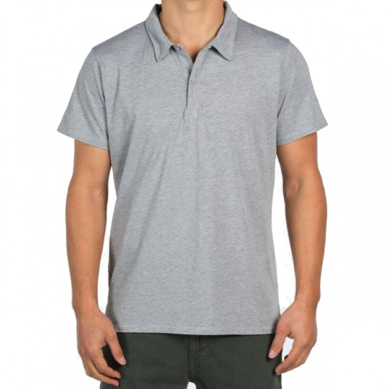 Save Khaki United - Polos - S-S Heather Jersey Polo