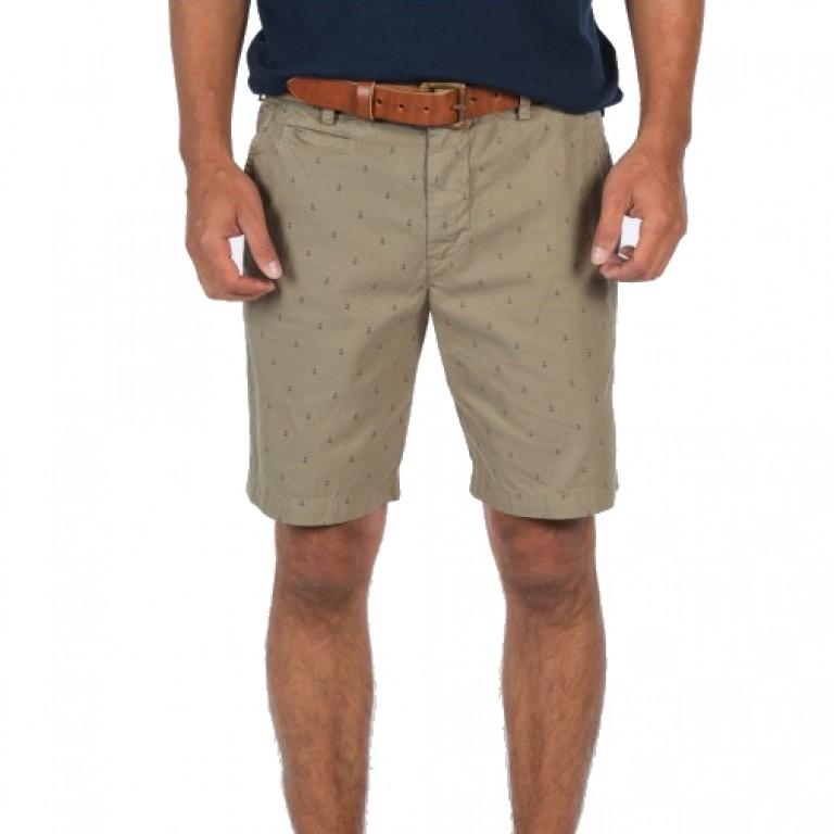 Save Khaki United - Shorts - Anchor Print Bermuda Short