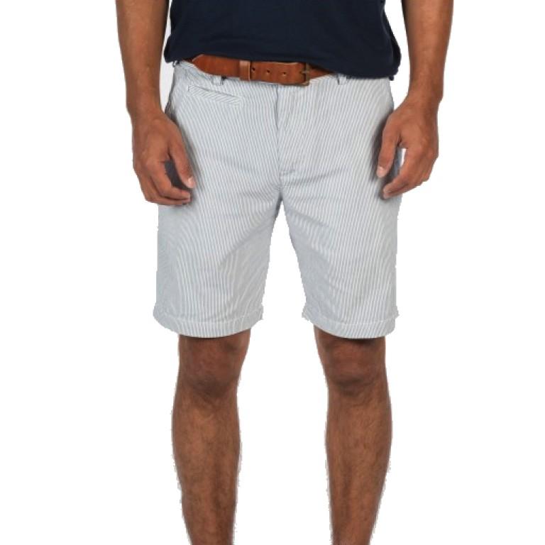 Save Khaki United - Shorts - Ticking Stripe Bermuda Short