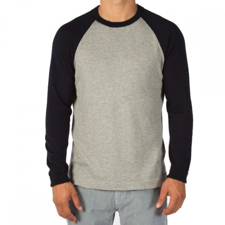 Save Khaki United - Sweaters - L-S Color Block Sweater
