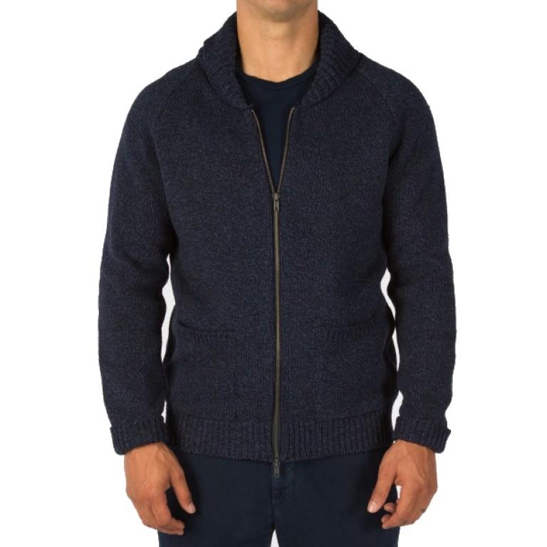 Save Khaki United - Sweaters - Zip Ragg Sweater