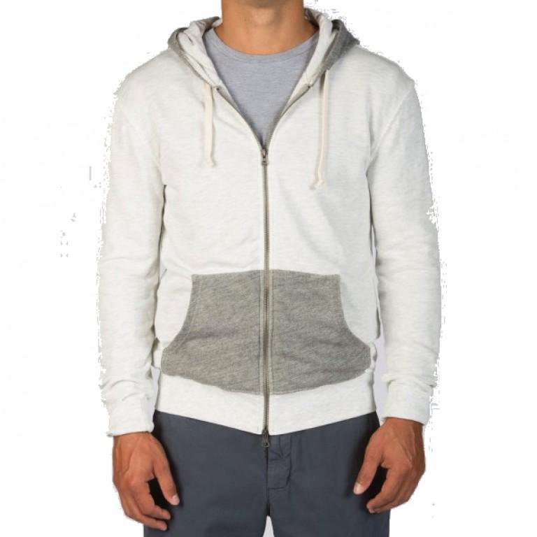 Save Khaki United - Sweatshirts - Color Block Zip Hooded Sweatshirt