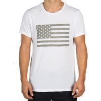 Save Khaki United - T-Shirts - S-S Flag Print Tee