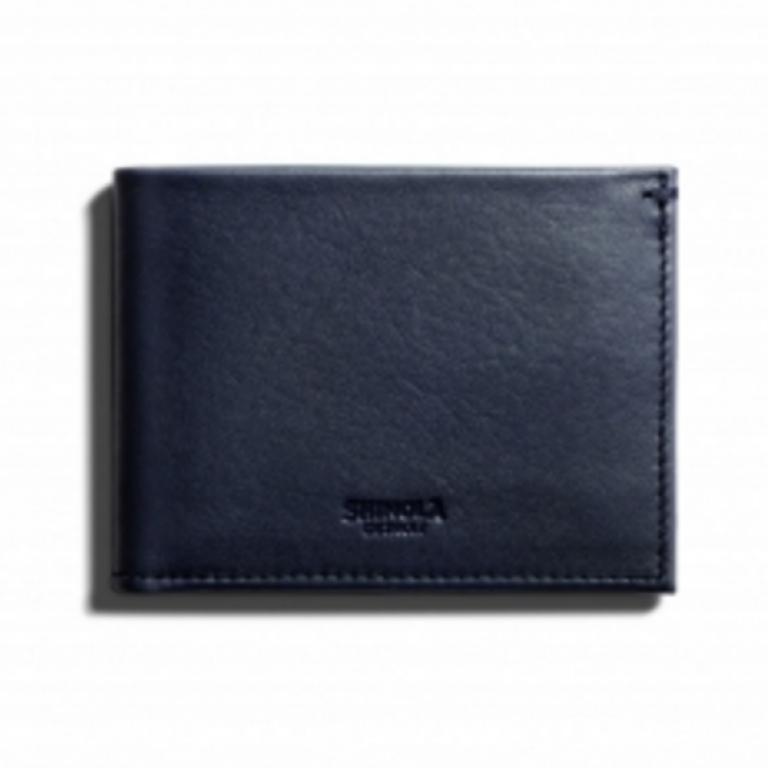 Shinola - Wallets and Bags - Slim Bifold Wallet Navy