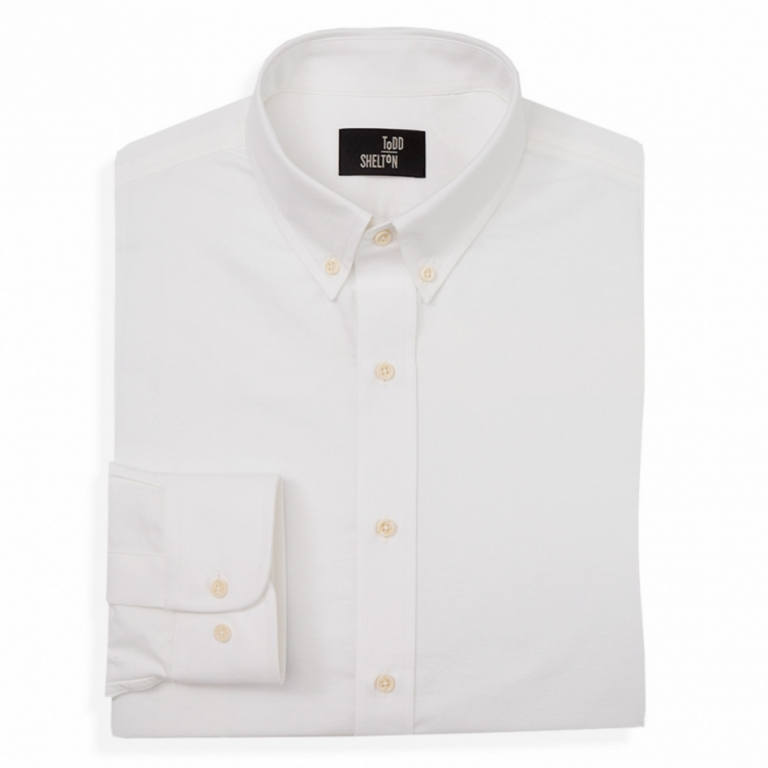 Todd Shelton - Dress Shirts - Classic Oxford Shirt White