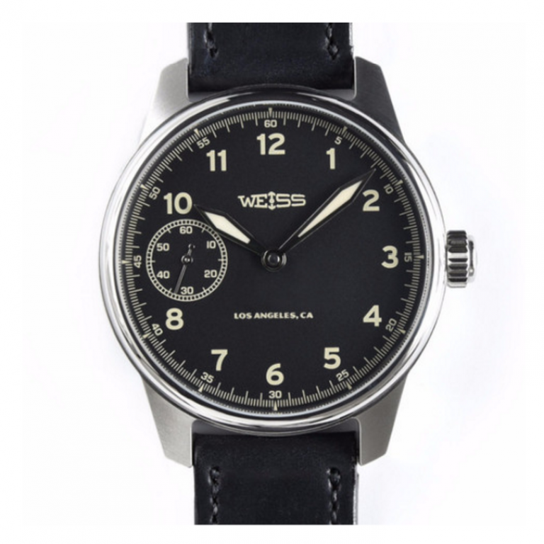 Weiss Watch Company - Watches - Limited Issue Field Watch Black Dial