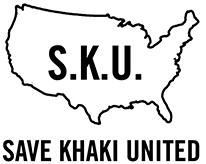 save khaki united logo