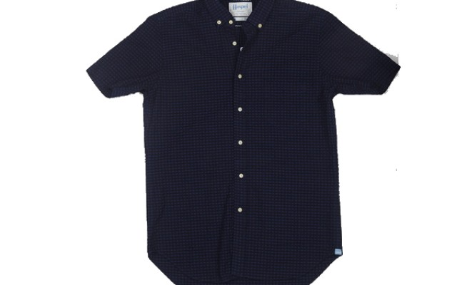 Haspel - Casual Button-Down Shirts - Rampart Navy Check