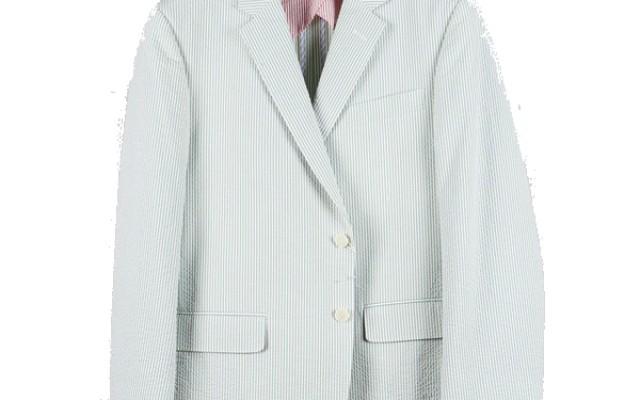 Haspel - Suits and Sport Coats - Gravier Sportcoat Green Seersucker