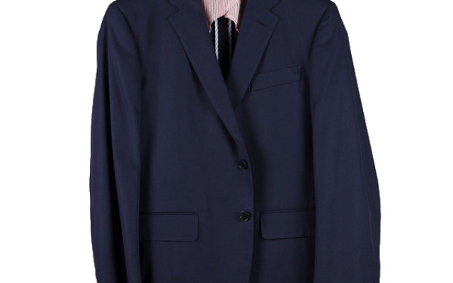 Haspel - Suits and Sport Coats - Gravier Sportcoat Navy Cotton Twill