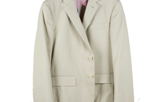 Haspel - Suits and Sport Coats - Gravier Sportcoat Tan Cotton Twill