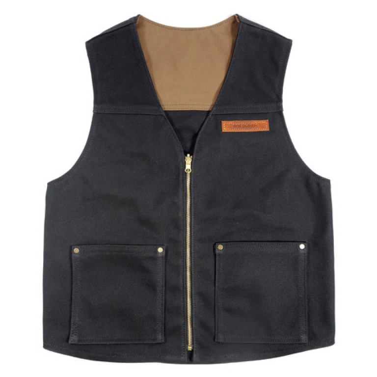 red clouds collective 18 oz black waxed canvas vest