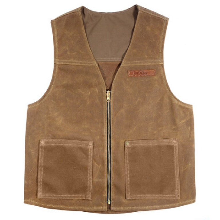 red clouds collective 18 oz brush brown waxed canvas vest