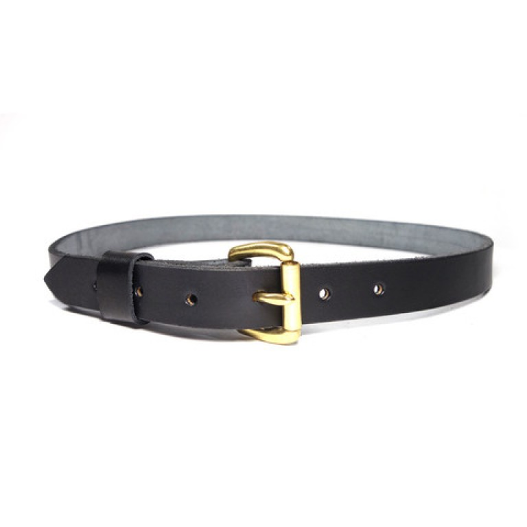 red clouds collective classic black slim leather belt