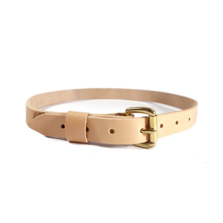 red clouds collective slim classic belt natural