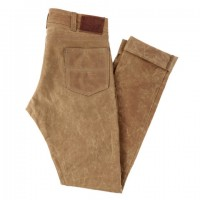 red clouds collective gn 04 brushed brown waxed canvas pants