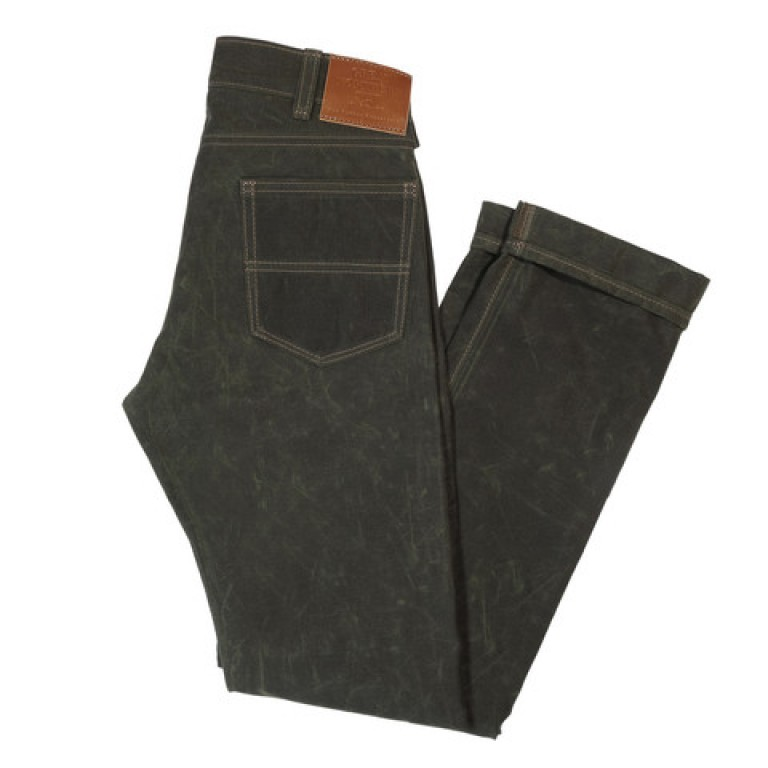 red clouds collective gn 04 olive waxed canvas work pants